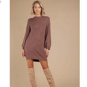 NWT Tobi Mocha  So Lost Sweater Dress